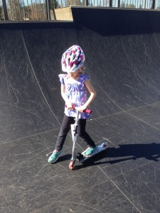 A little skate park action for the Peanut.