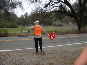 With our own personal crossing guard!