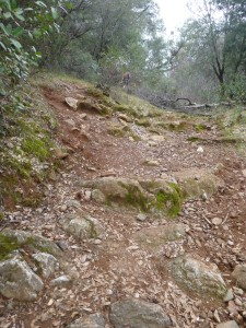 Uphill rocks