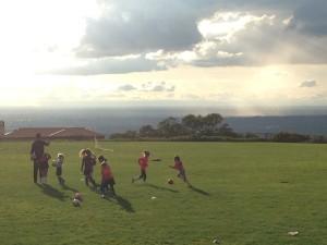 A sweet soccer field huh?