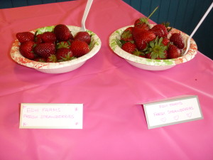 Fresh berries from EDH Farms at the party.