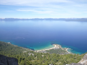Sand Harbor below.