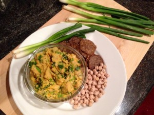 Another Esselstyn inspired meal - Green Onion Hummus