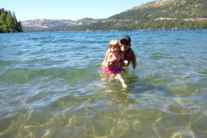 Donner Lake swimming