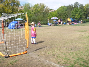 The fierce goalie!