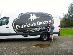 Post run I found my favorite bakery delivery truck sitting in the parking lot! Score!