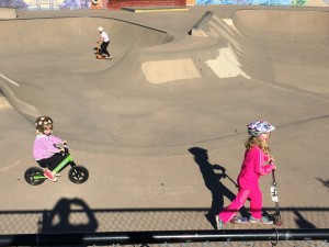 We hit the skate park with some friends.