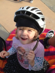 She does love her bike though!