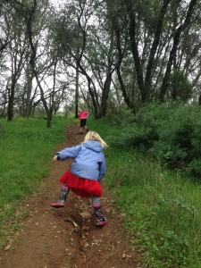 Trail running littles!