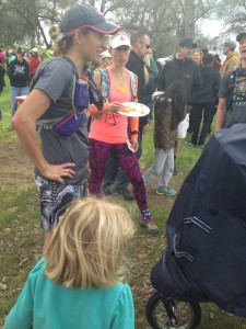 Post race chat with Tri-Girl and Pigeon