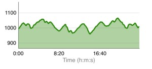 The Course Profile - not much flat sections there