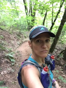 Trail Selfie - I look all alone but there were lots of people out there