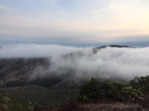 We're above the fog