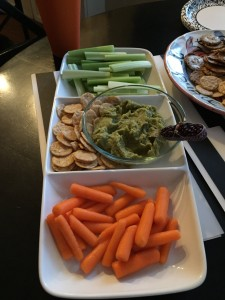 Veggies and Jalapeno Cilantro Hummus