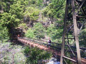 The beautiful Swinging Bridge