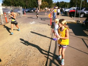The Peanut cheering me on at the finish.