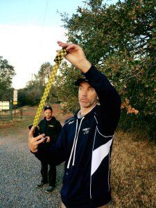 Coach Nikon talking to the 10k Runners