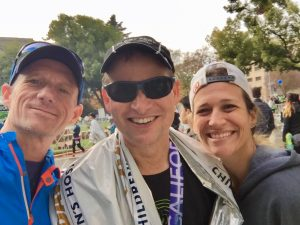 Three marathoners!