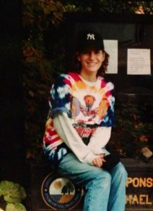 "Me in my 20s .. see what I mean by ""fashion"" - not much has changed."