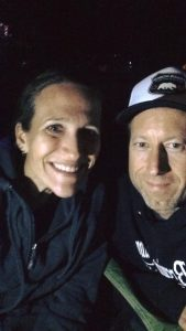 My rock with me post race - at midnight.
